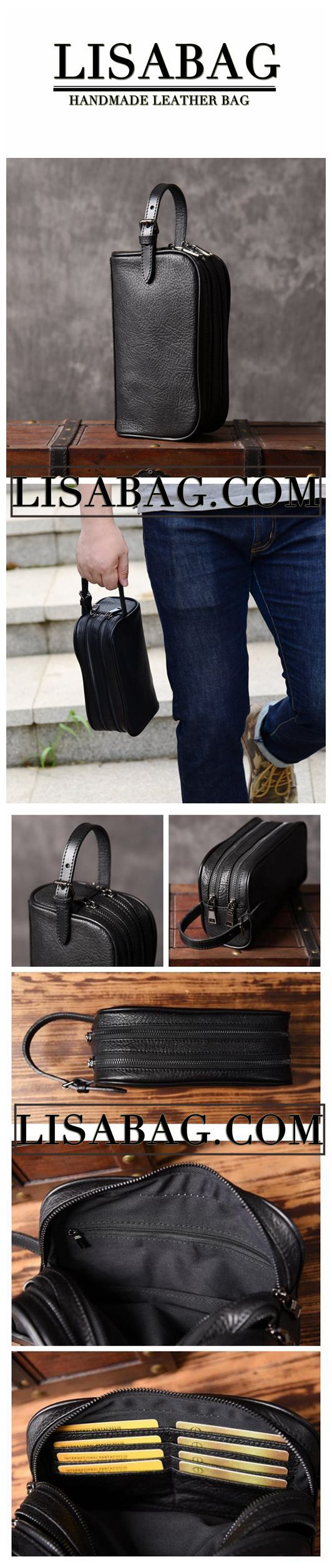 Men's Leather Clutch Men's Leather Gift Men's Leather Accessories Travel wallet ...