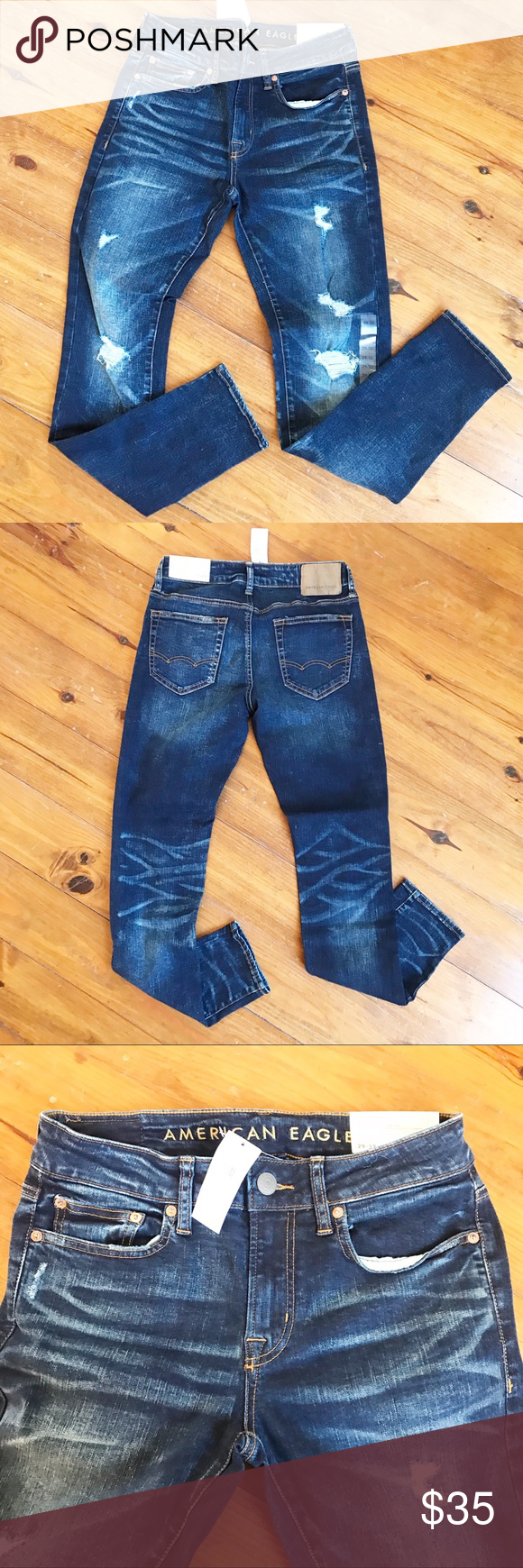 American Eagle Ripped Distressed Jeans Mens 29 Brand new with tags American Eagl...