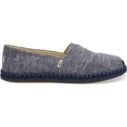 Toms Shoes Dark Blue Chambray Espadrilles For Women - Size 39 TomsToms