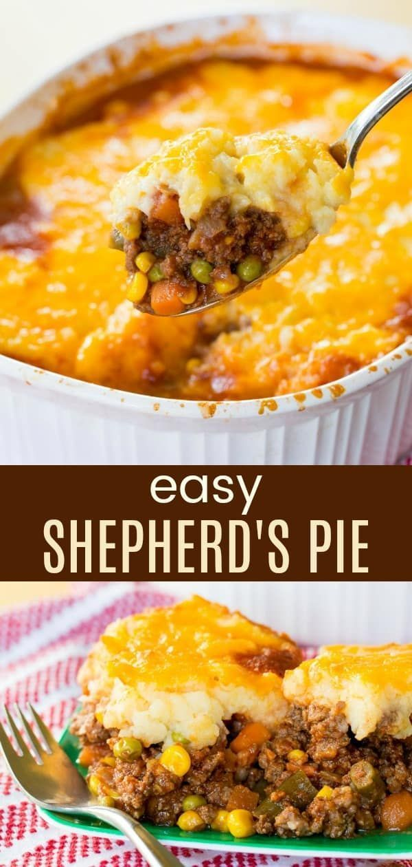 Easy Shepherd's Pie - a simple recipe for the classic comfort food casserole. Me...