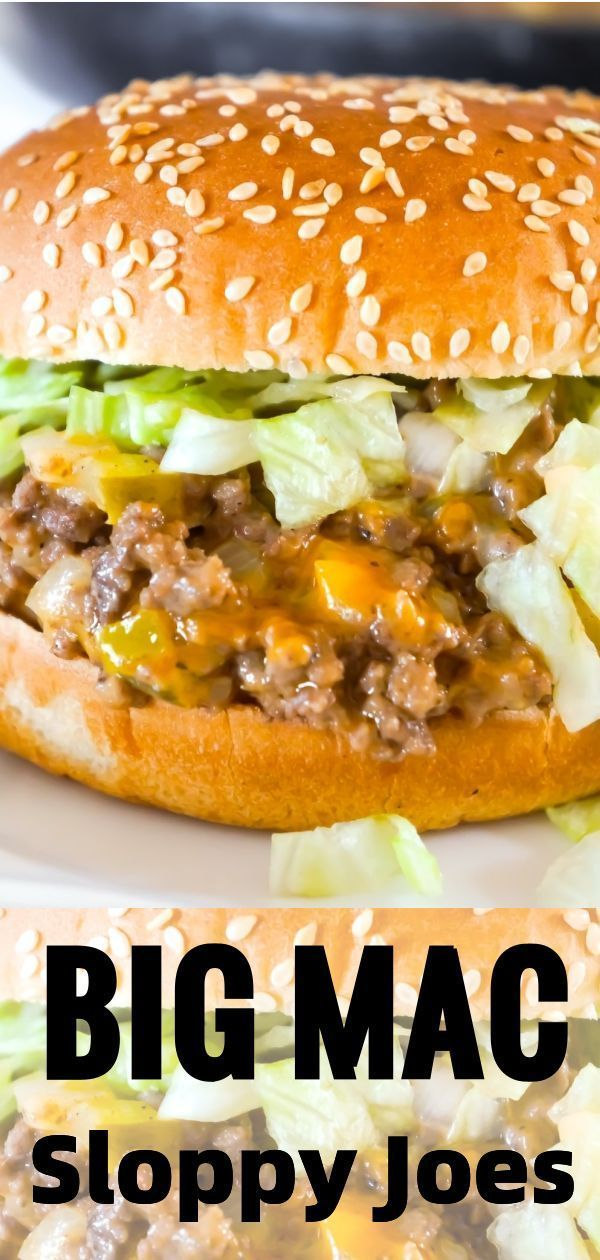 Big Mac Sloppy Joe's are delicious minced meat sandwiches with onions, pic ........