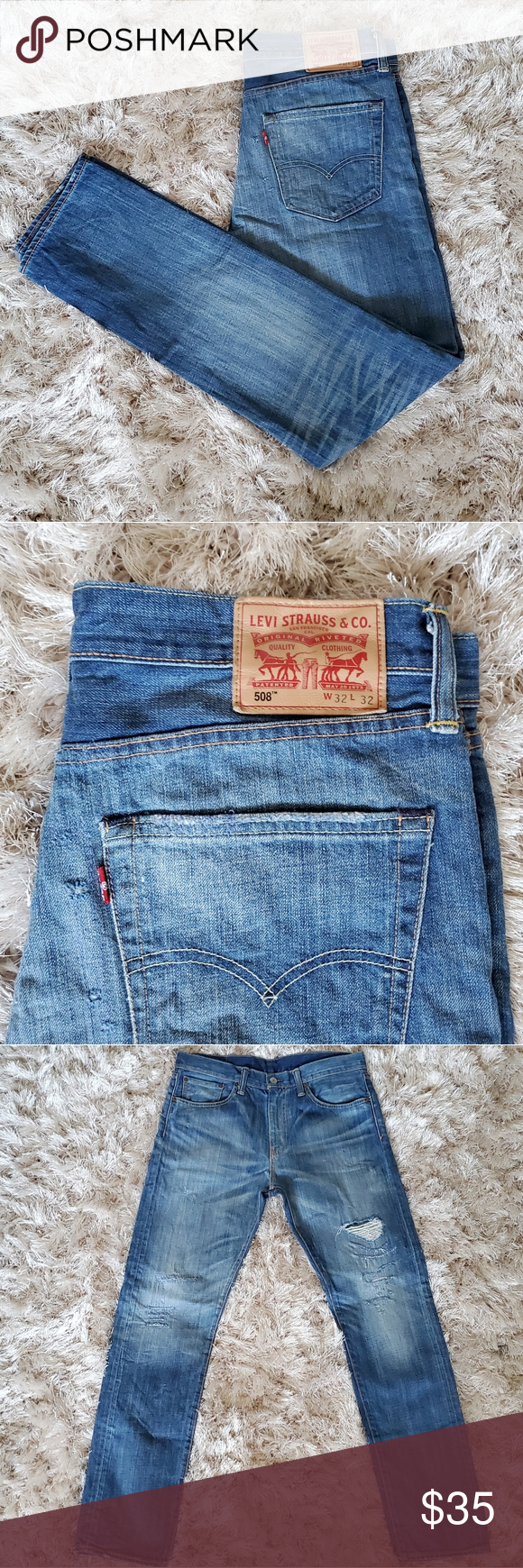 Levi's 508 Distressed Jeans Men 32×32 Levi's 508 distressed jeans.  Gently used...