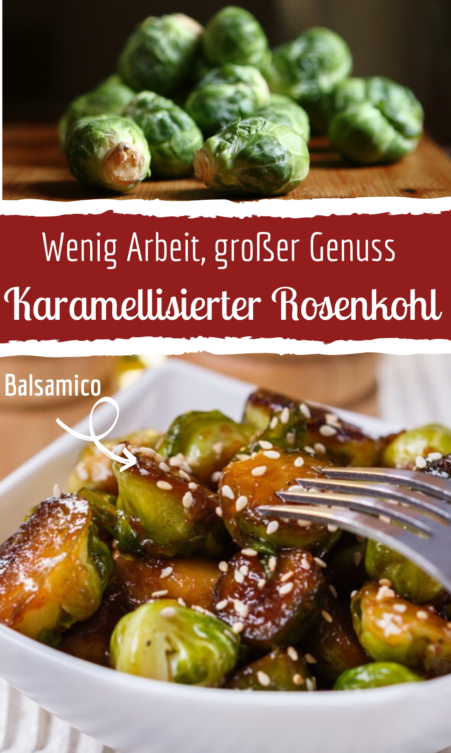 Caramelized Brussels sprouts with honey & balsamic vinegar