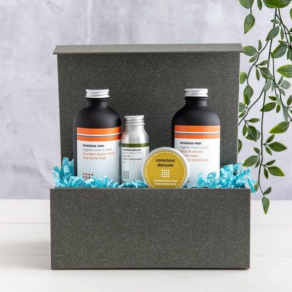 Mens Grooming Kit - Luxurious Body Collection - Absolute Shower - Bounders Body Lotion - Argan Oil - Hand Cream - Gift for Men - Vegan