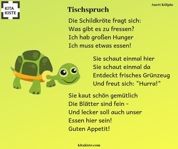 Table saying with # turtle - funny and a little more extensive - children's birthday ideas