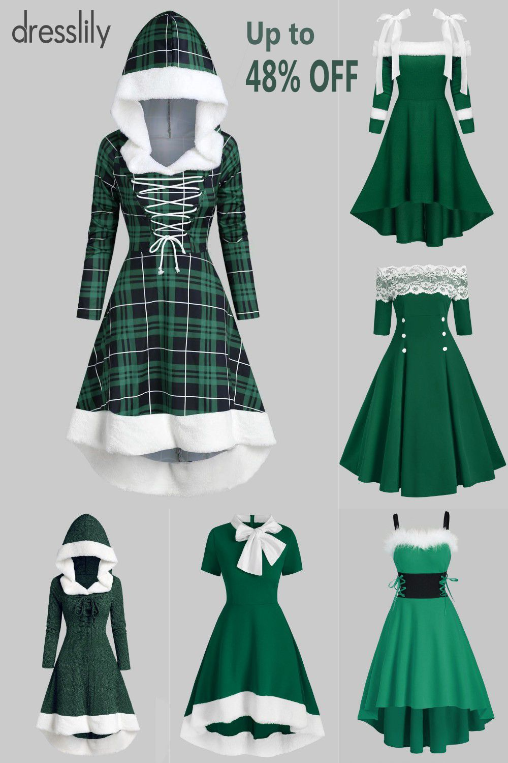 Womens fashion outfits | Christmas party outfit | Womens sweater | Vintage dresses | dresslily