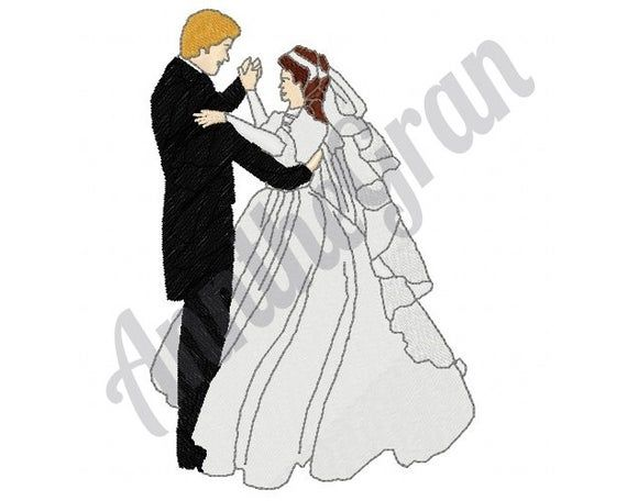 Wedding Dance Embroidery Design. Machine Embroidery Design. Wedding Couple Pattern. Bride & Groom Em