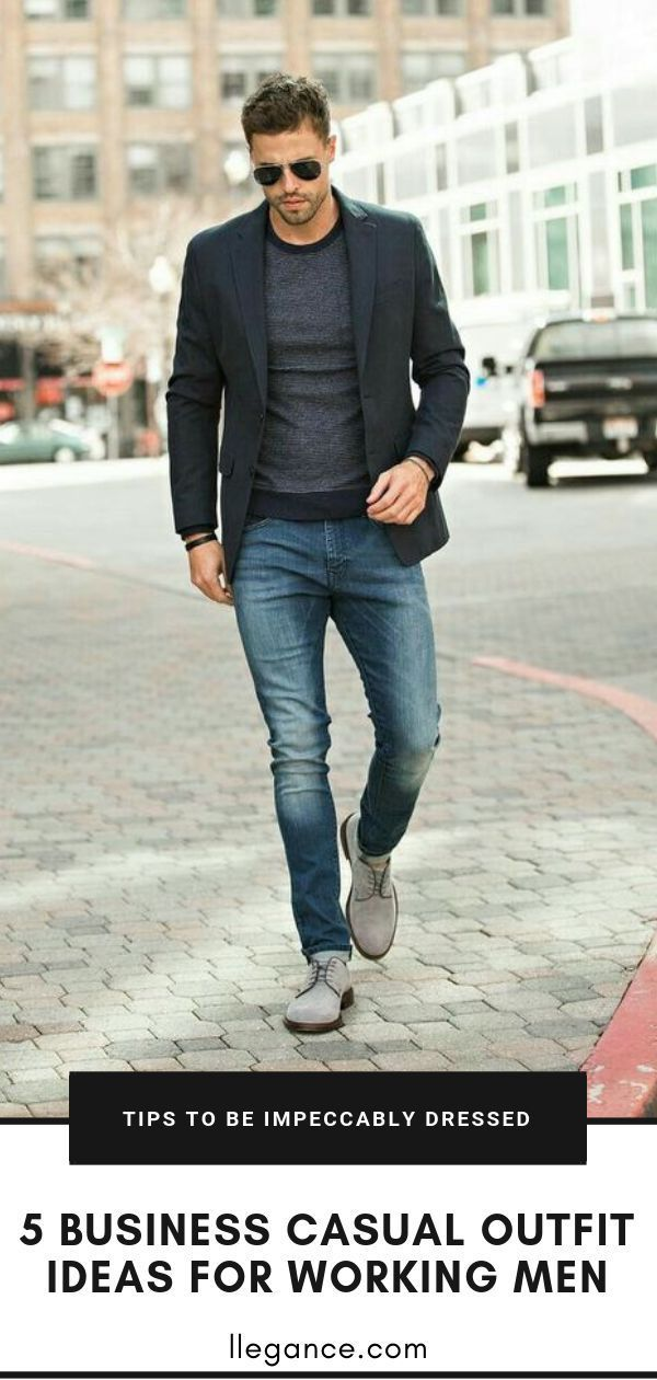 5 Business Casual Outfits for Working Men #workattire Did you know productivity ...