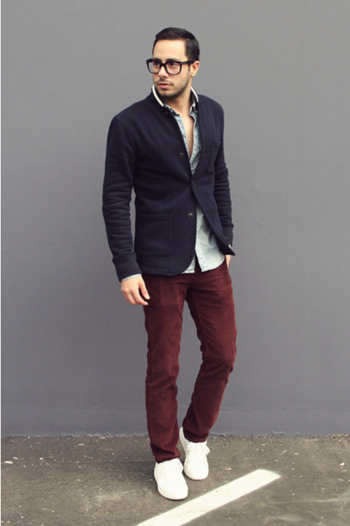 what to wear with mens burgundy pants - Google Search
