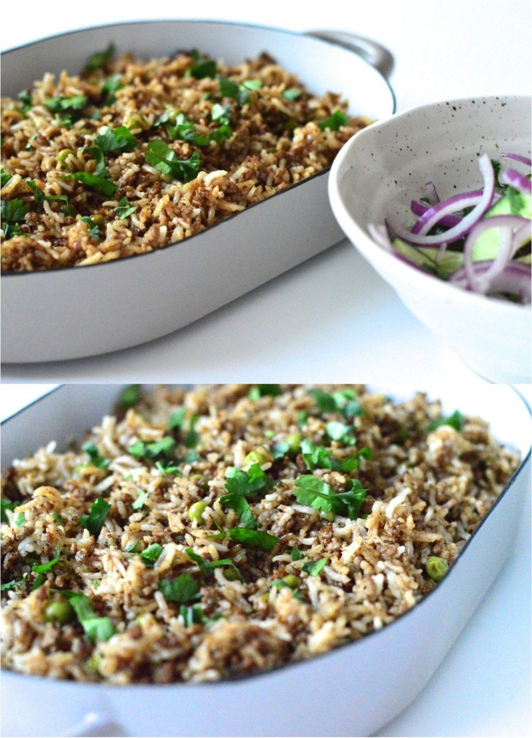 Spiced Lebanese rice with mince