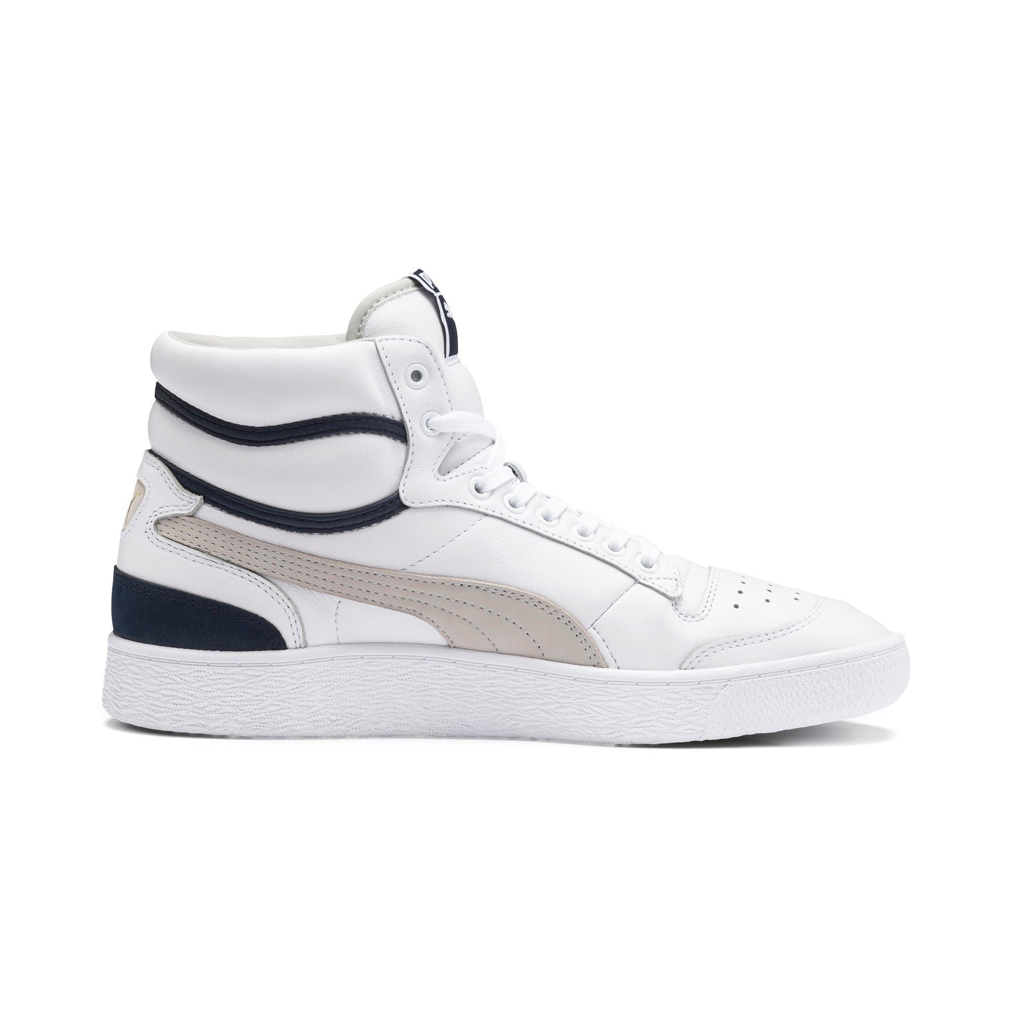 PUMA Ralph Sampson Mid OG Trainers in White/Grey Violet/Peacoat size 10.5