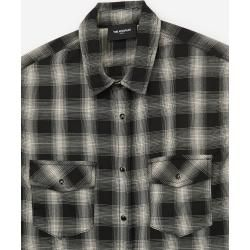 The Kooples stretch check shirt in white and black - Damenthekooples.com
