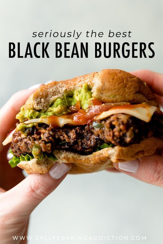 The BEST black bean burgers grilled or baked! Meat lovers went crazy for these