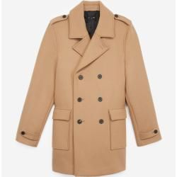 The Kooples - Camel double breasted wool coat horn buttons - Damenthekooples.com