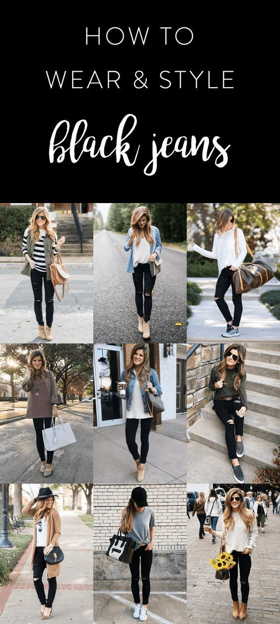 What to wear with black jeans - 30+ black jeans outfit ideas - cool style