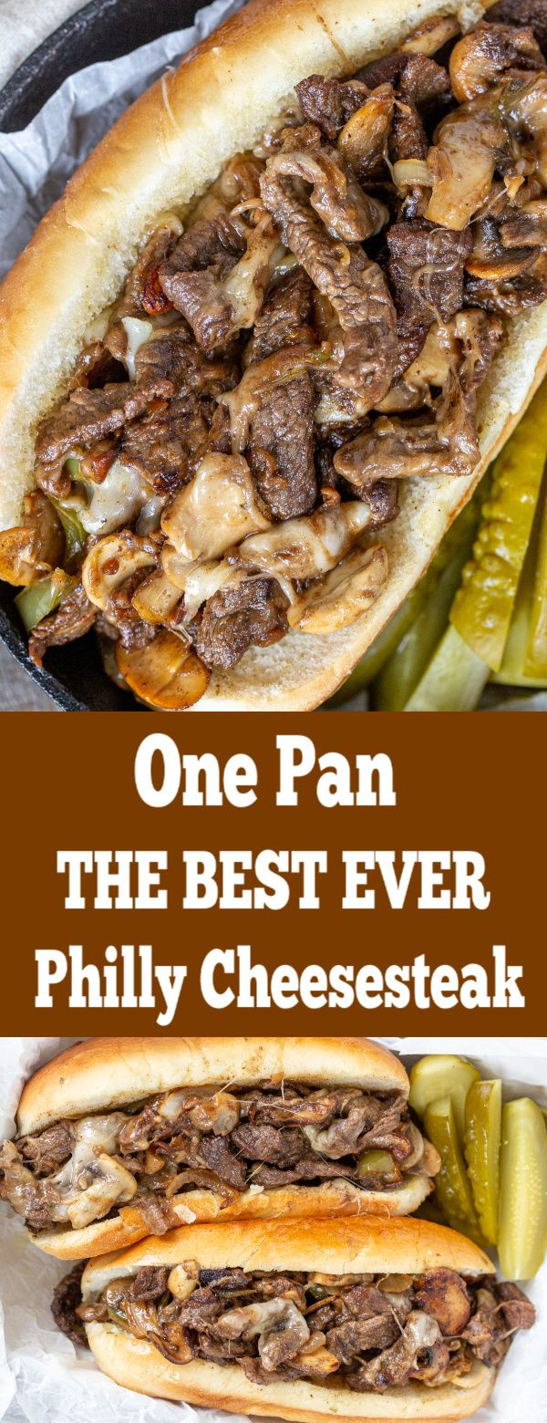 The BEST ever, juiciest Philly Cheesesteak all made in one pan. You will keep co...