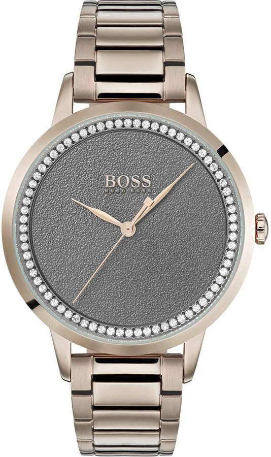 BOSS Women's Twilight Rose Gold Ion-Plated Stainless Steel Bracelet Watch 36mm & Reviews - All Fine Jewelry - Jewelry & Watches - Macy's