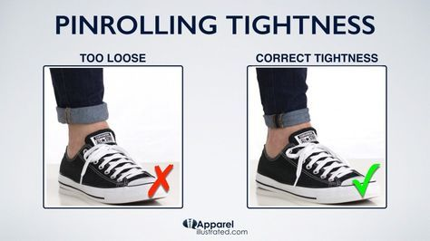 how to pinroll jeans with correct tightness