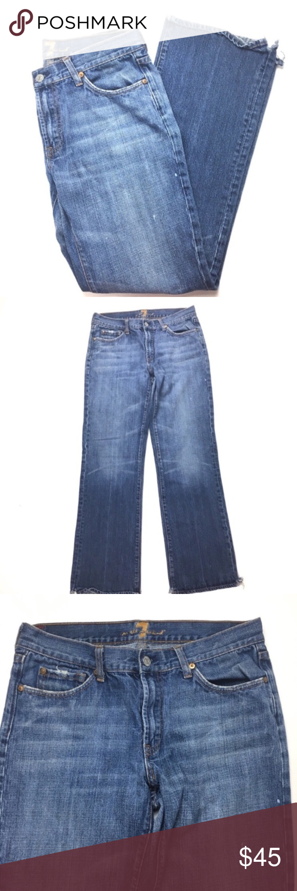 7 For All Mankind Jeans Men 32 A Pocket Distressed 7 For All Mankind Jeans Men 3...