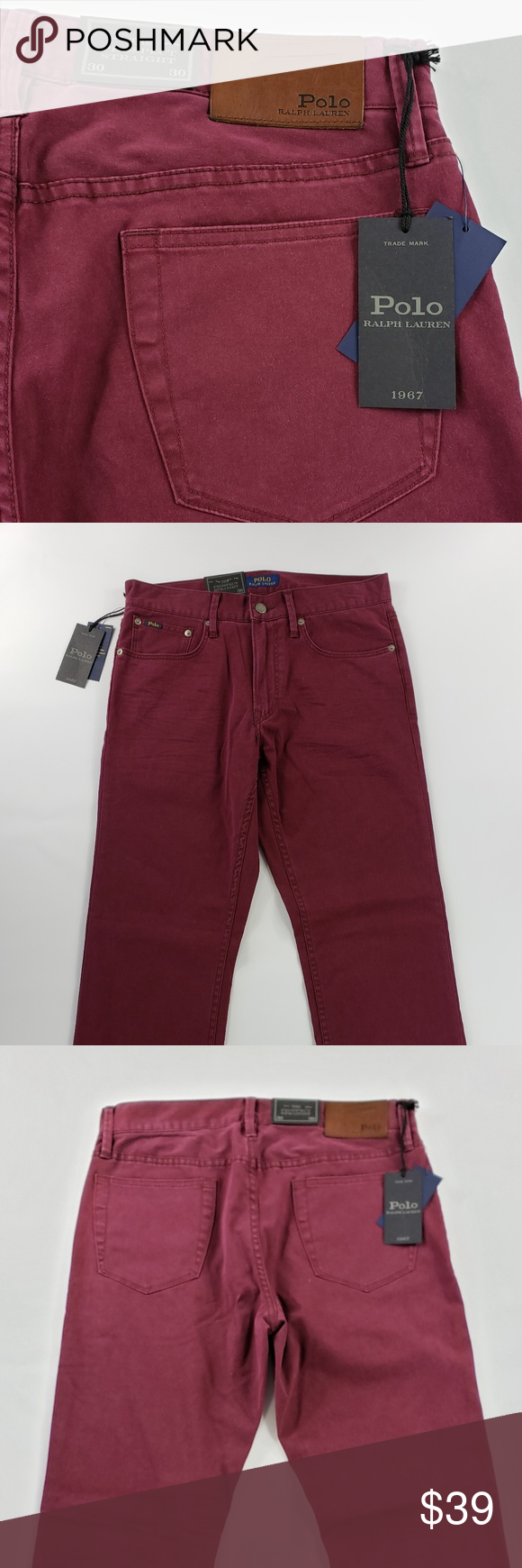 POLO RALPH LAUREN STRAIGHT STRETCH FIT CHINO NWT POLO RALPH LAUREN PROSPECT STRA...