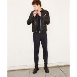 The Kooples - Midnight blue slim fit trousers with chain - Damenthekooples.com