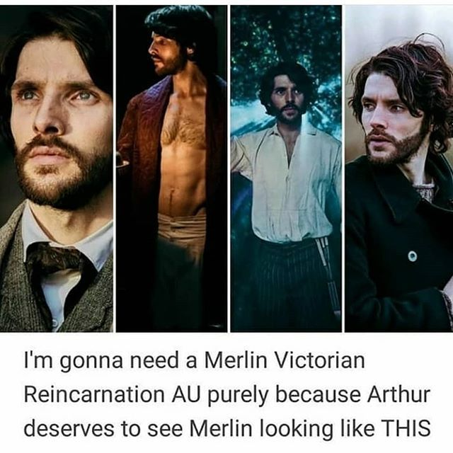Okay but merlin with a beard is hot