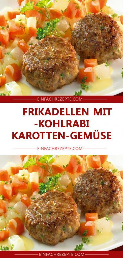 Meatballs with delicious kohlrabi and carrot vegetables 😍 😍 😍