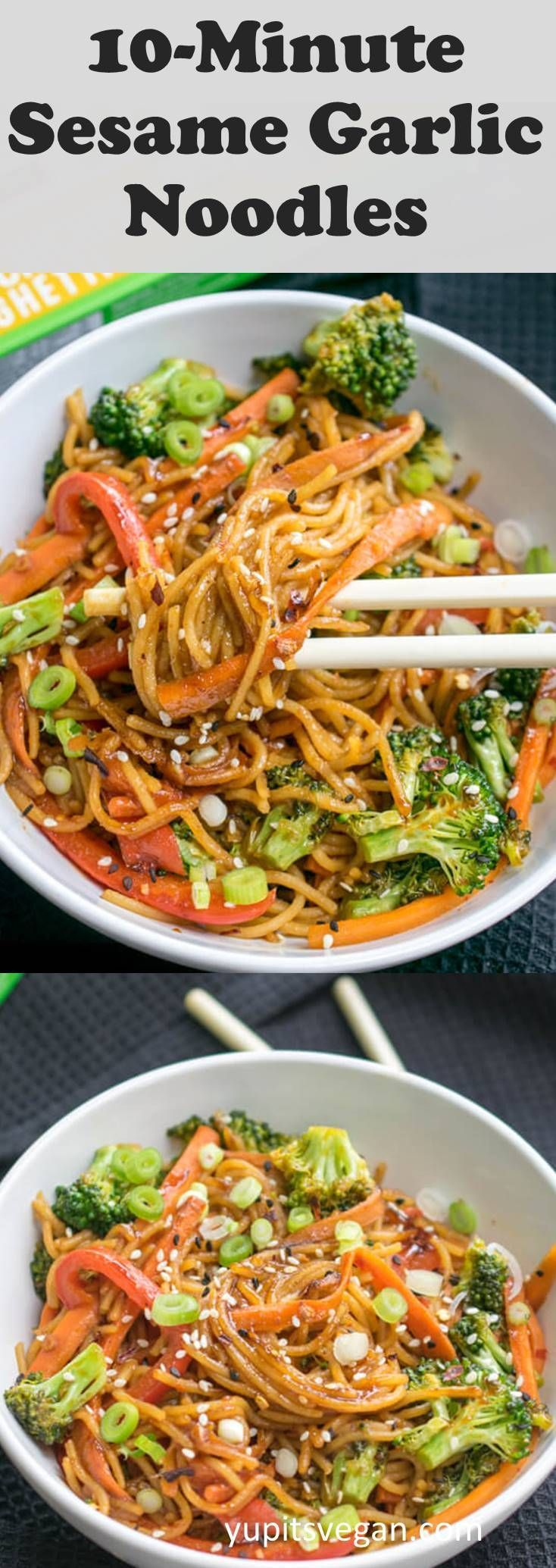 10 minutes of sesame and garlic protein noodles! Vegan, gluten-free, ready in ... - Diet tips