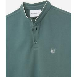 The Kooples - Green insignia slim fit polo with buttons - Damenthekooples.com