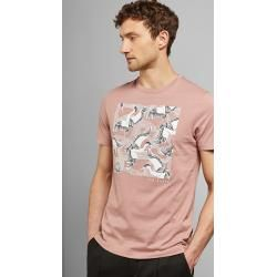 Cotton t-shirt with bird motif Ted BakerTed Baker