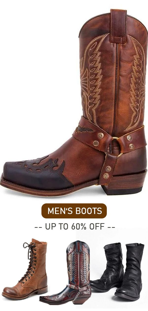 Vintage men's boots hot now! Christmas & new year gift for yourself>> Shop now>>
