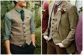 olive shirt with brown vest wedding - Google Search - #brown #Google #Olive #sea...